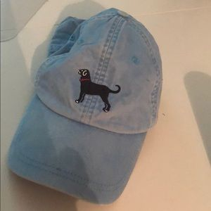 Light blue black dog hat!